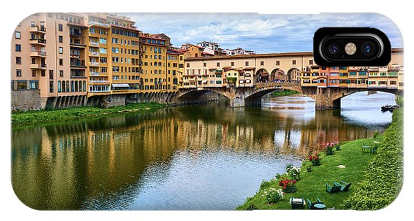 Ponte Vecchio On A Spring Day In Florence, Italy IPhone Case