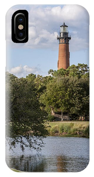 Beautiful Day At Currituck Beach Lighthouse IPhone Case