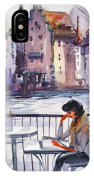 Reading iPhone Case - Beautiful Day, Reading by Kristina Vardazaryan