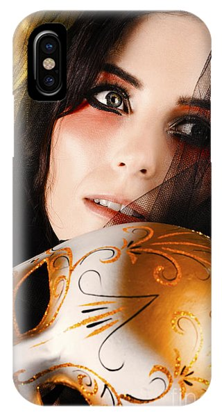 Eye Ball iPhone Case - Beautiful Female Performer Face. Perfect Makeup by Jorgo Photography - Wall Art Gallery