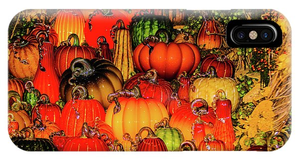 Beautiful Glass Pumpkins IPhone Case