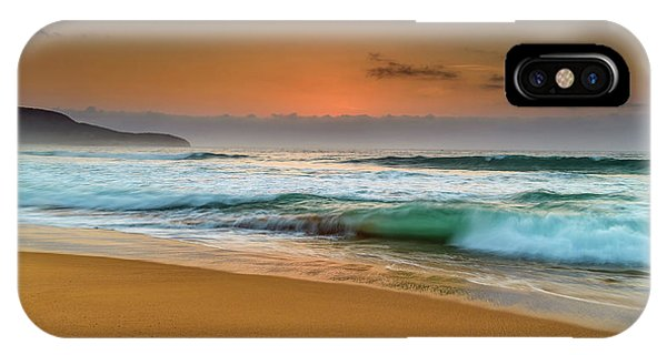 Beautiful Hazy Sunrise Seascape  IPhone Case