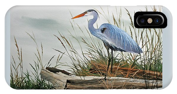 Heron iPhone Case - Beautiful Heron Shore by James Williamson