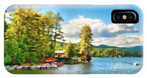 Beautiful Lake George New York Phone Case by Anne Kitzman