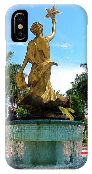Beautiful Mizner Park In Boca Raton, Florida. IPhone Case