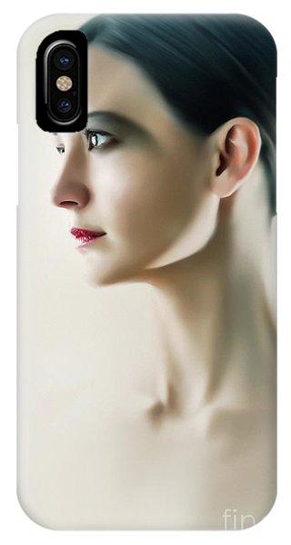 IPhone Case featuring the photograph Beautiful Model Highkey Fashion Studio Portrait by Dimitar Hristov