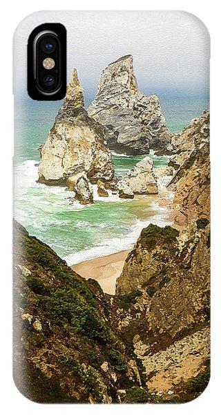 Beautiful Praia Da Ursa In Portugal IPhone Case
