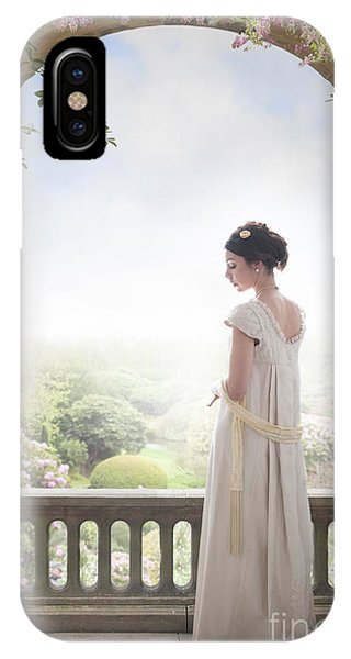 Beautiful Regency Woman Beneath A Wisteria Arch IPhone Case