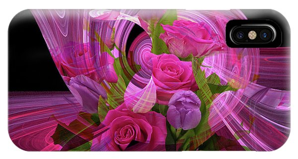Beautiful Rose Bouquet Montage IPhone Case