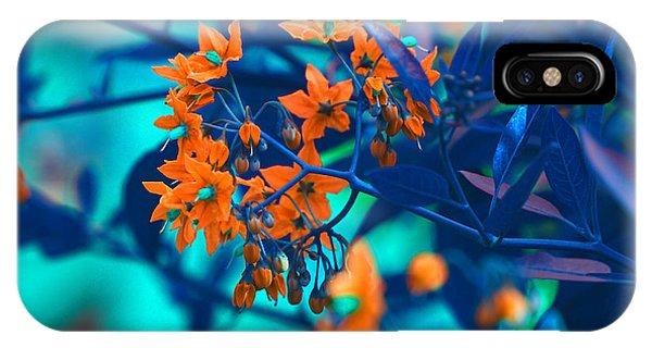 IPhone Case featuring the photograph Beautiful Solanum Septemiobum Flowers  by Lance Sheridan-Peel
