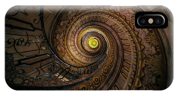 Moving Stairs IPhone Case   Beautiful Spiral Staircase By Jaroslaw Blaminsky
