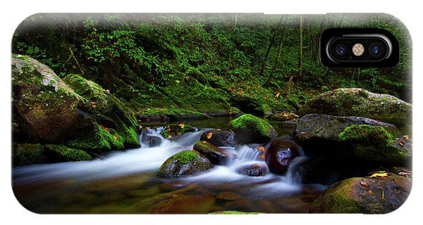 Beautiful Stream In Tremont Smoky Mountains Tennessee IPhone Case