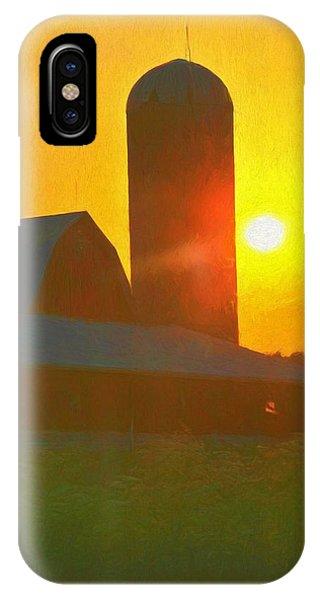 Beautiful Sunrise Over The Farm IPhone Case