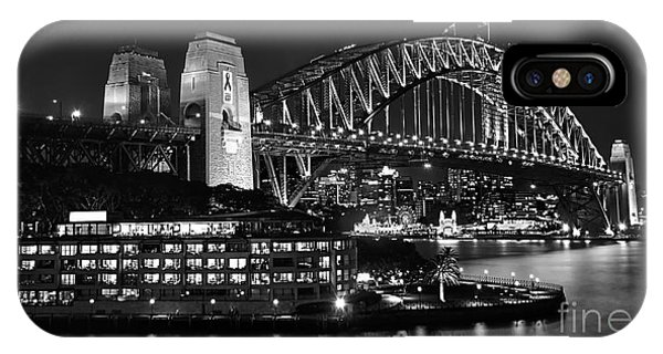 Beautiful Sydney Harbour In Black And White IPhone Case