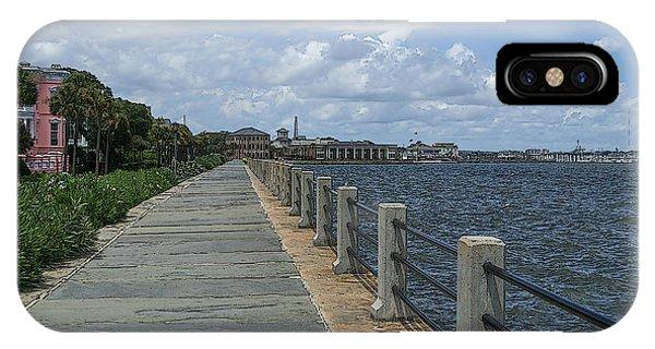 Beautiful Waterfront Walkway IPhone Case