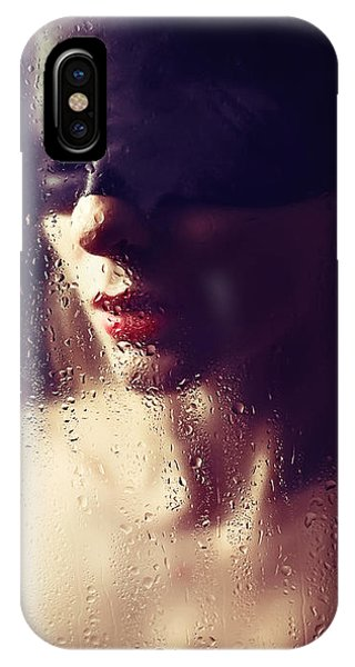Beautiful Woman Blindfolded #8313 IPhone Case