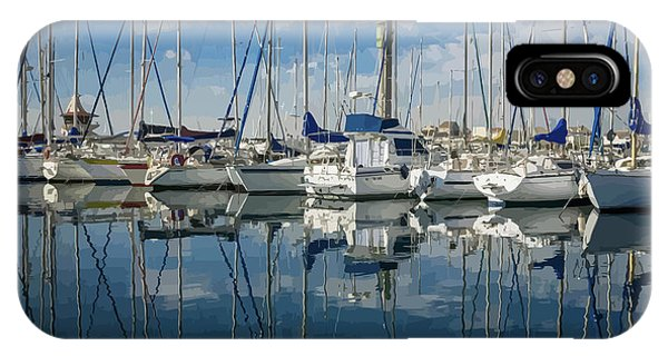 Beautiful Yachts Moored In The Marina IPhone Case