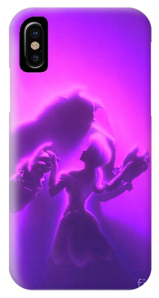 IPhone Case featuring the mixed media Beauty Beast by David Millenheft