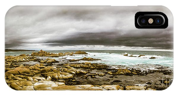 Gloomy iPhone Case - Beauty In Oceanic Drama by Jorgo Photography - Wall Art Gallery