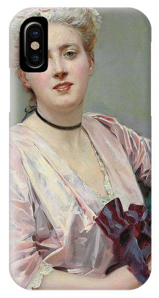 Girls In Pink iPhone Case - Beauty In Pink by Raimundo de Madrazo y Garetta