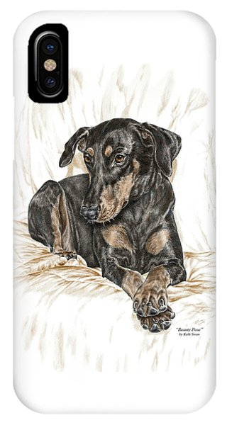 Beauty Pose - Doberman Pinscher Dog With Natural Ears IPhone Case