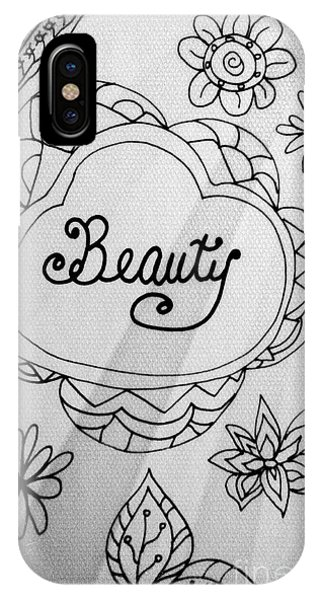 IPhone Case featuring the drawing Beauty by Rachel Maynard