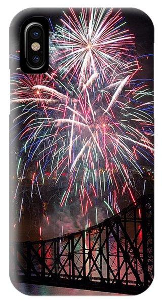 Fireworks iPhone Case - Beaver County Fireworks  by Emmanuel Panagiotakis