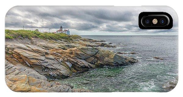 Beavertail Lighthouse On Narragansett Bay IPhone Case