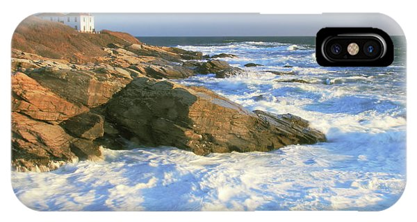 Beavertail Point And Lighthouse  IPhone Case