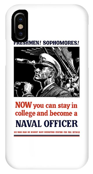 Anti iPhone Case - Become A Naval Officer by War Is Hell Store