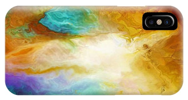 IPhone Case featuring the mixed media Becoming - Abstract Art by Jaison Cianelli