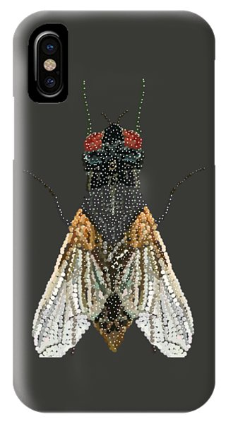 Bedazzled Housefly Transparent Background IPhone Case