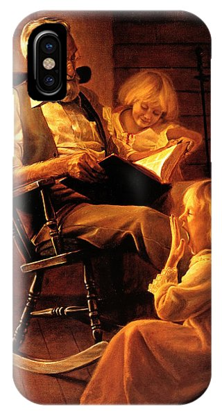 Reading iPhone Case - Bedtime Stories by Greg Olsen