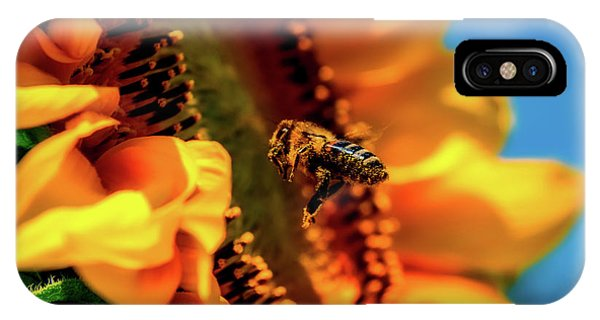 Honeybee iPhone X Case - Bee And Sunflower by Pixabay