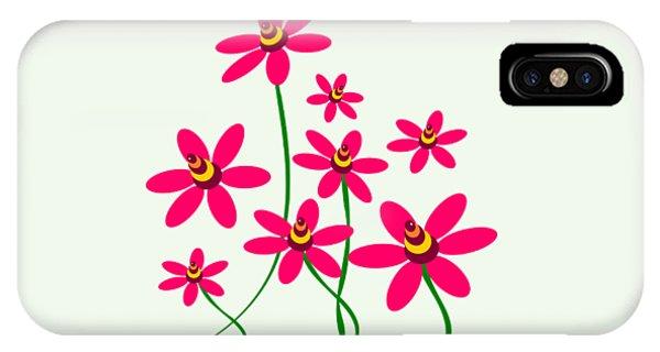 Bee Flowers IPhone Case