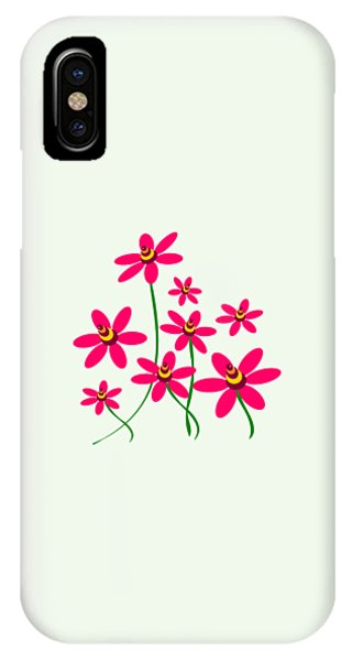 Bee Flowers IPhone Case