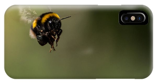 Bee Flying - View From Front IPhone Case