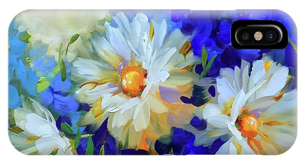 iPhone Case - Bee Happy Daisies by Nancy Medina