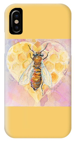 Bee Heart IPhone Case