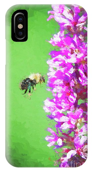 Bee Kissing A Flower IPhone Case