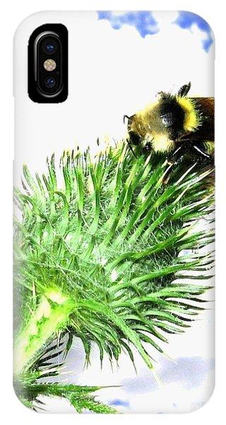 Honeybee iPhone X Case - Bee-line 4 by Will Borden