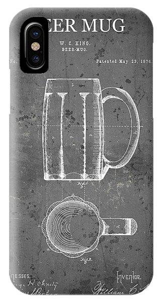 Schooner iPhone Case - Beer Drinkers Mug Patent  1876 by Daniel Hagerman