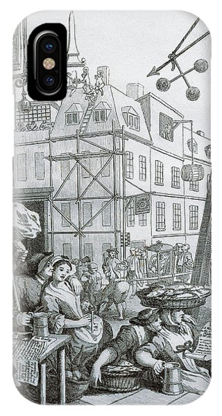 Pub iPhone Case - Beer Street In London by William Hogarth