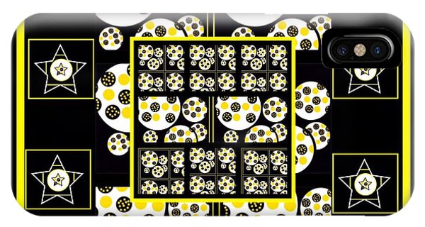 The Art Of Gandy iPhone Case - Bees Traveling Beyond Us Overlapping by Joan Ellen Gandy
