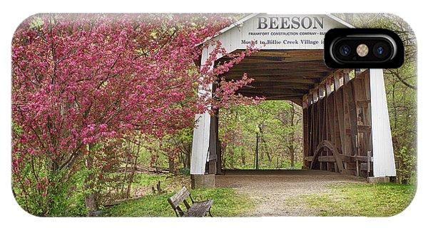 Beeson Covered Bridge IPhone Case