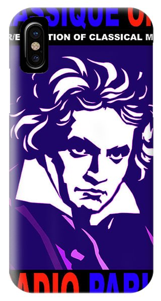 Beethoven Classique One Radio Paris  IPhone Case