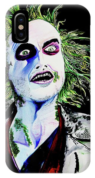 IPhone Case featuring the painting Beetlejuice by eVol i