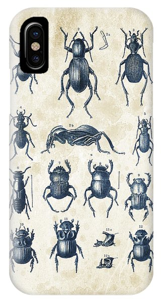 Coleoptera iPhone Case - Beetles - 1897 - 01 by Aged Pixel