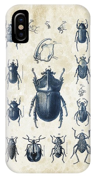 Coleoptera iPhone Case - Beetles - 1897 - 02 by Aged Pixel