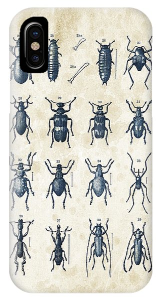 Coleoptera iPhone Case - Beetles - 1897 - 03 by Aged Pixel